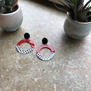 H&M drop artsy post earrings
